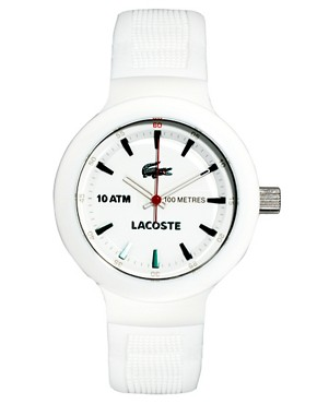 Image 1 of Lacoste White Rubber Strap Watch
