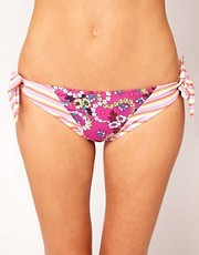 Paolita For Asos Stripe And Floral Hipster Bikini Bottom