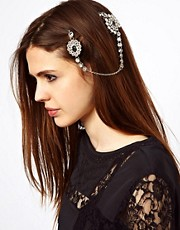 ASOS Double Jewel Hair Brooches