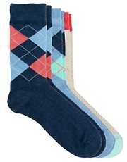 ASOS 3 Pack Argyle Socks