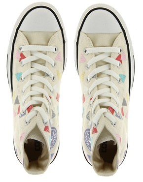 Image 3 ofConverse All Star Confetti Print High Top Trainers