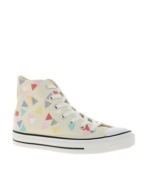 Image 1 ofConverse All Star Confetti Print High Top Trainers
