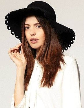 Image 1 ofASOS Cut Work Brim Floppy Hat