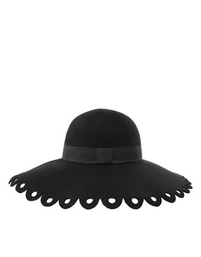 Image 4 ofASOS Cut Work Brim Floppy Hat