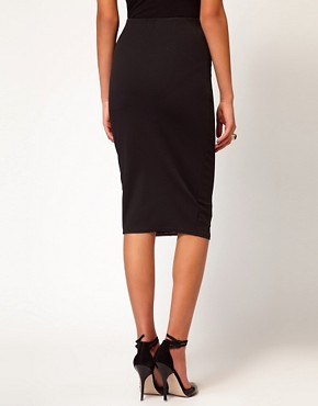Image 2 ofASOS Pencil Skirt with Hollogram Panel