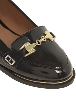 Image 2 ofRiver Island Patent Buckle Loafers
