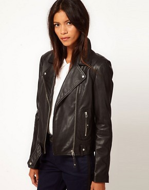 Image 1 ofWhistles Dree Leather Jacket