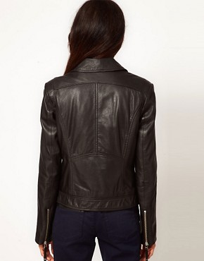 Image 2 ofWhistles Dree Leather Jacket