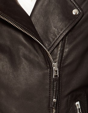 Image 3 ofWhistles Dree Leather Jacket