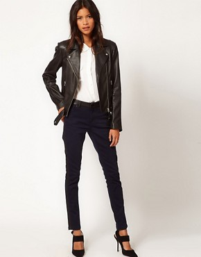 Image 4 ofWhistles Dree Leather Jacket