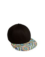 ASOS Snap Back Cap with Aztec Peak
