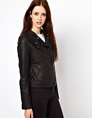 Oasis Stud Faux Leather Jacket