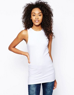 ASOS Tunic Vest with High Neck (white)