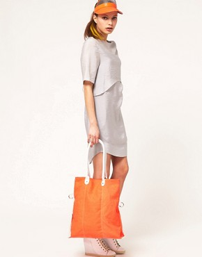 Image 3 ofASOS Canvas Contrast Handle Shopper