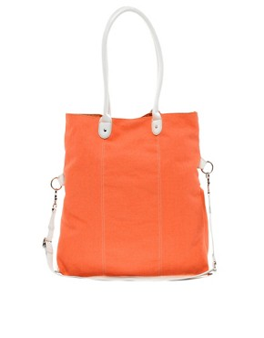 Image 1 ofASOS Canvas Contrast Handle Shopper
