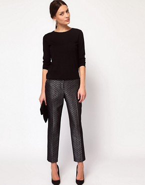 Image 1 ofWhistles Lia Jacquard Trouser