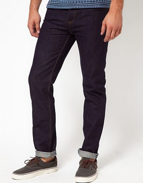 Image 1 ofASOS Slim Raw Selvedge Jeans