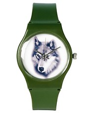 ASOS Watch with Wolf Print Face