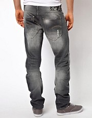 G-Star  Arc 3D  Schmale Jeans in mittelblauem Used-Look