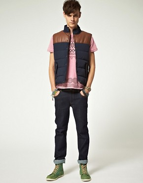 Image 4 ofASOS Gilet With Contrast Trim
