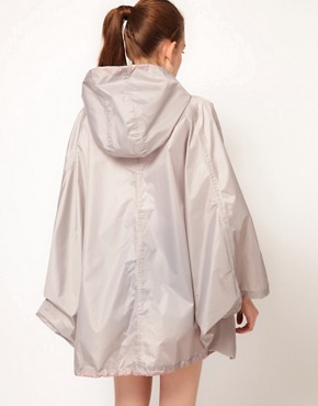 Image 2 ofVila Contrast Zip Rain Poncho