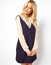 ASOS Pinafore Dress With Zip Sides