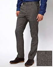 ASOS Slim Fit Suit Trouser in Herringbone