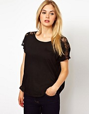 Vila Lace Sleeve Top