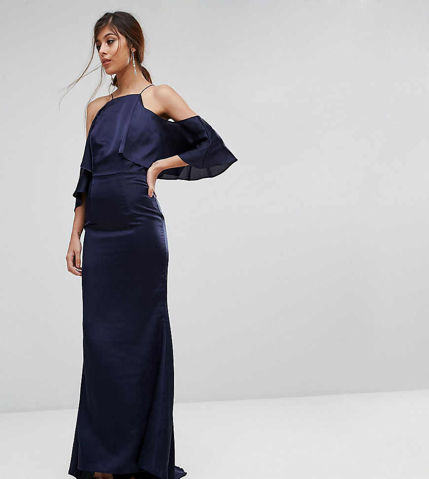 Jarlo Fishtail Maxi Dress With Cold Shoulder