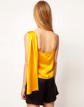 Image 2 ofKore by Sophia Kokosalaki Washed Silk Shoulder Top