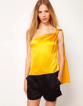 Image 1 ofKore by Sophia Kokosalaki Washed Silk Shoulder Top