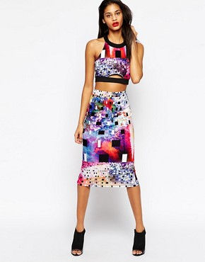 ASOS Digital Two Piece Scuba Dress