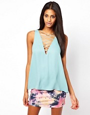 ASOS Vest With Lace Front