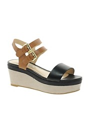 Dune Glaze Buckled Flatform Sandals