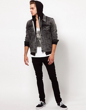 Image 4 ofASOS Denim Jacket With Acid Wash