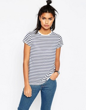 ASOS T-Shirt With Crew Neck In Stripe