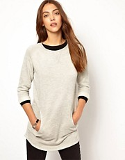 Whistles Longline Pocket Detail Sweat