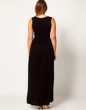 Image 2 ofASOS CURVE Maxi Dress With Embellished Waist