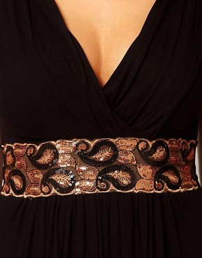 Image 3 ofASOS CURVE Maxi Dress With Embellished Waist