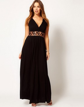 Image 4 ofASOS CURVE Maxi Dress With Embellished Waist