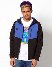 The Hundreds  Aloe  2-farbige Trainingsjacke mit Kapuze