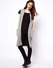 ASOS Waistcoat in Longline and Texture