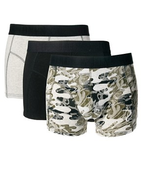 Image 1 ofJack &amp; Jones Hendon 3 Pack Trunks