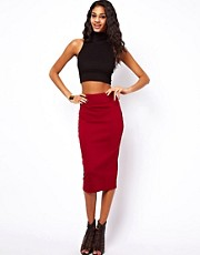 ASOS Wasp Pencil Skirt in Ponte