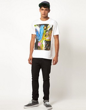 Image 4 ofSupremebeing T Shirt White Canvas Project By Food One ASOS Exclusive