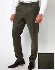 ASOS Slim Fit Suit Trouser in Khaki