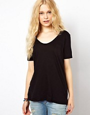 River Island Marl Scoop T-Shirt