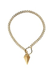 Yasmin By Gogo Philip Chunky Chain Necklace Arrowhead