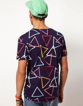 Image 2 ofWorn By Triangle Print T-Shirt