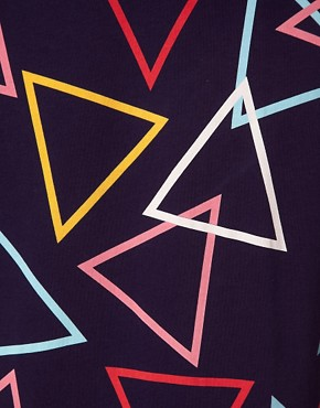 Image 3 ofWorn By Triangle Print T-Shirt